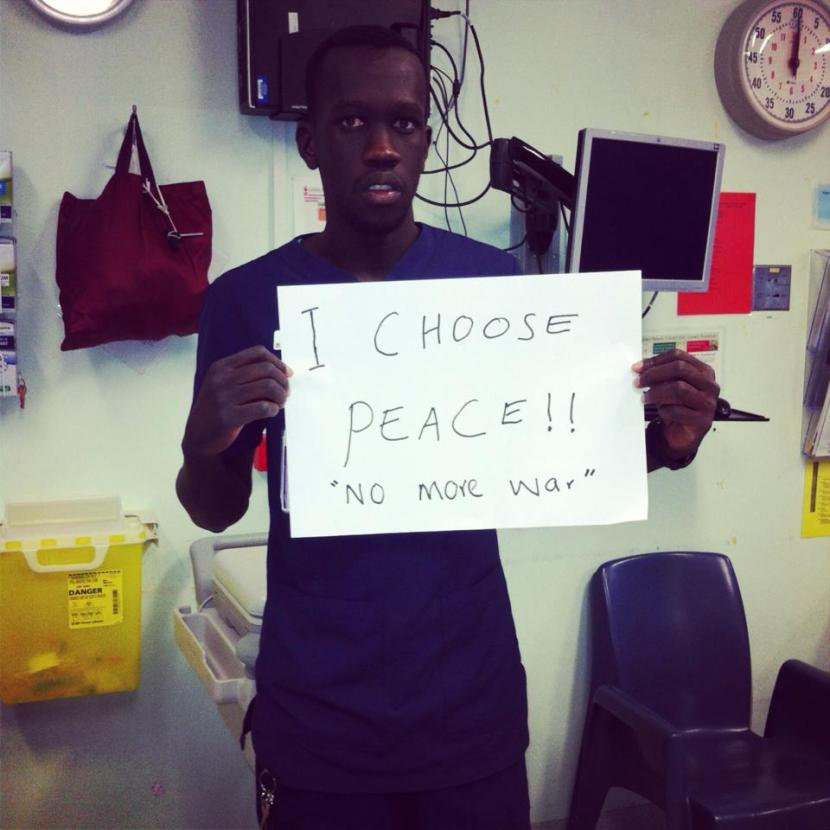 Registered Nurse from South Sudan call for peace
